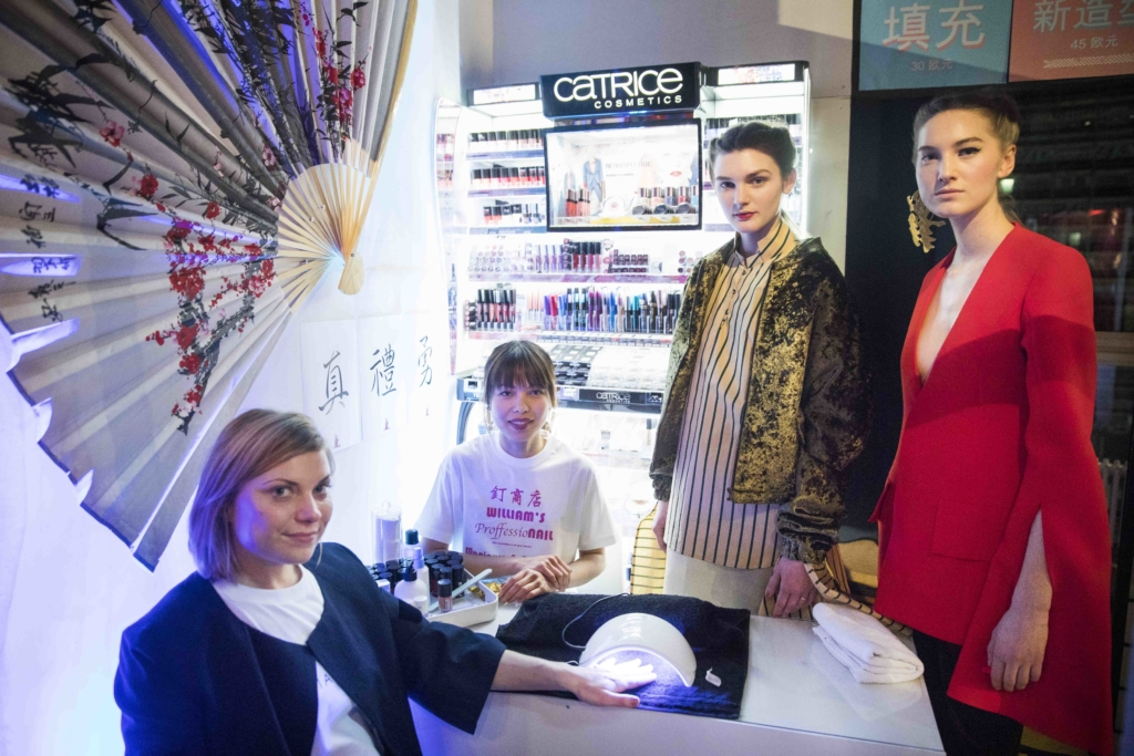Catrice Cosmetics als offizieller Make-up Partner für William Fan beim DER BERLINER MODE SALON auf der Berlin Fashion Week am 19.1.2017 in Berlin. Foto: Gero Breloer für Catrice