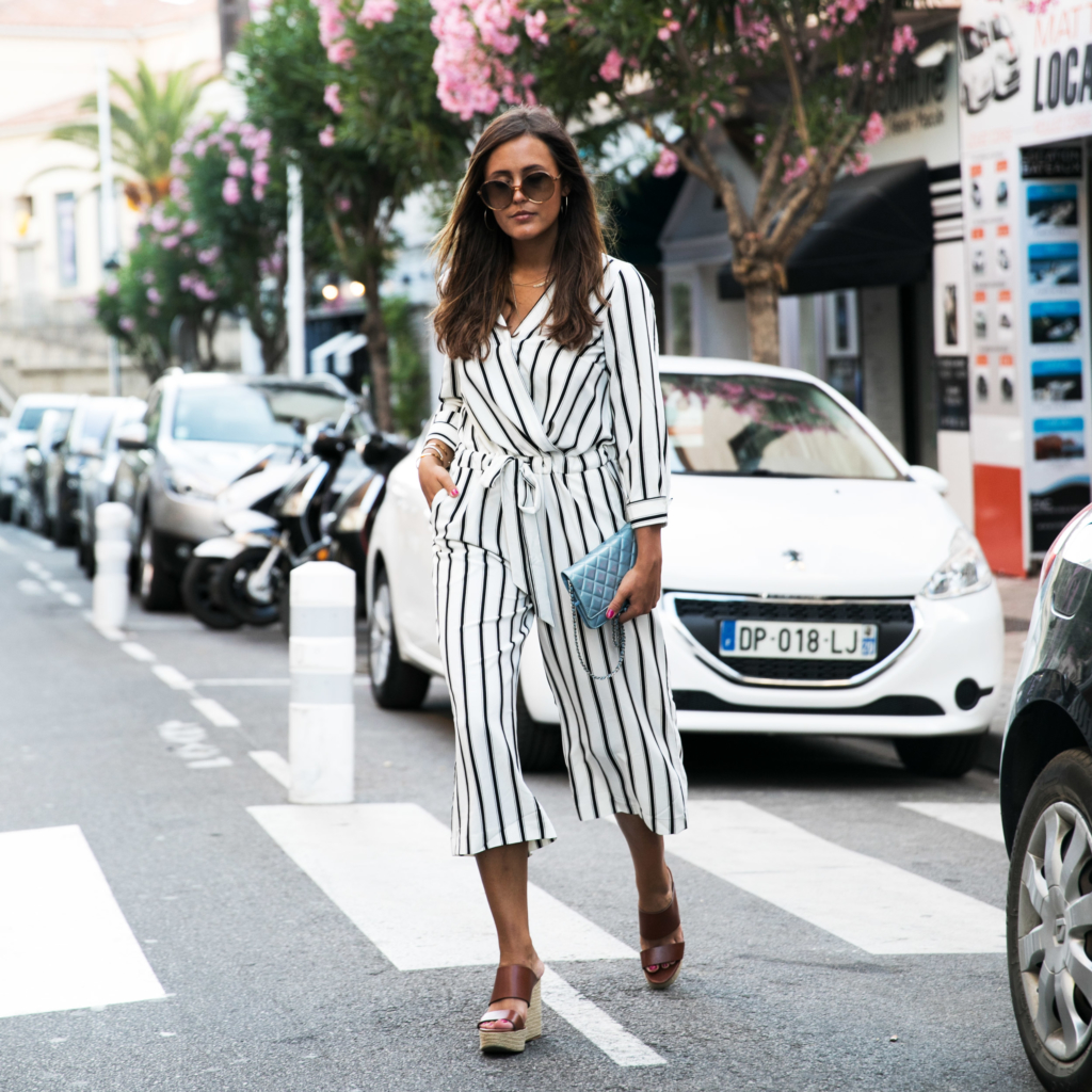 jumpsuit gestreift, streetstyle, guido maria kretschmer, streifen outfit, jumpsuit stripes, black and white, bloggerin