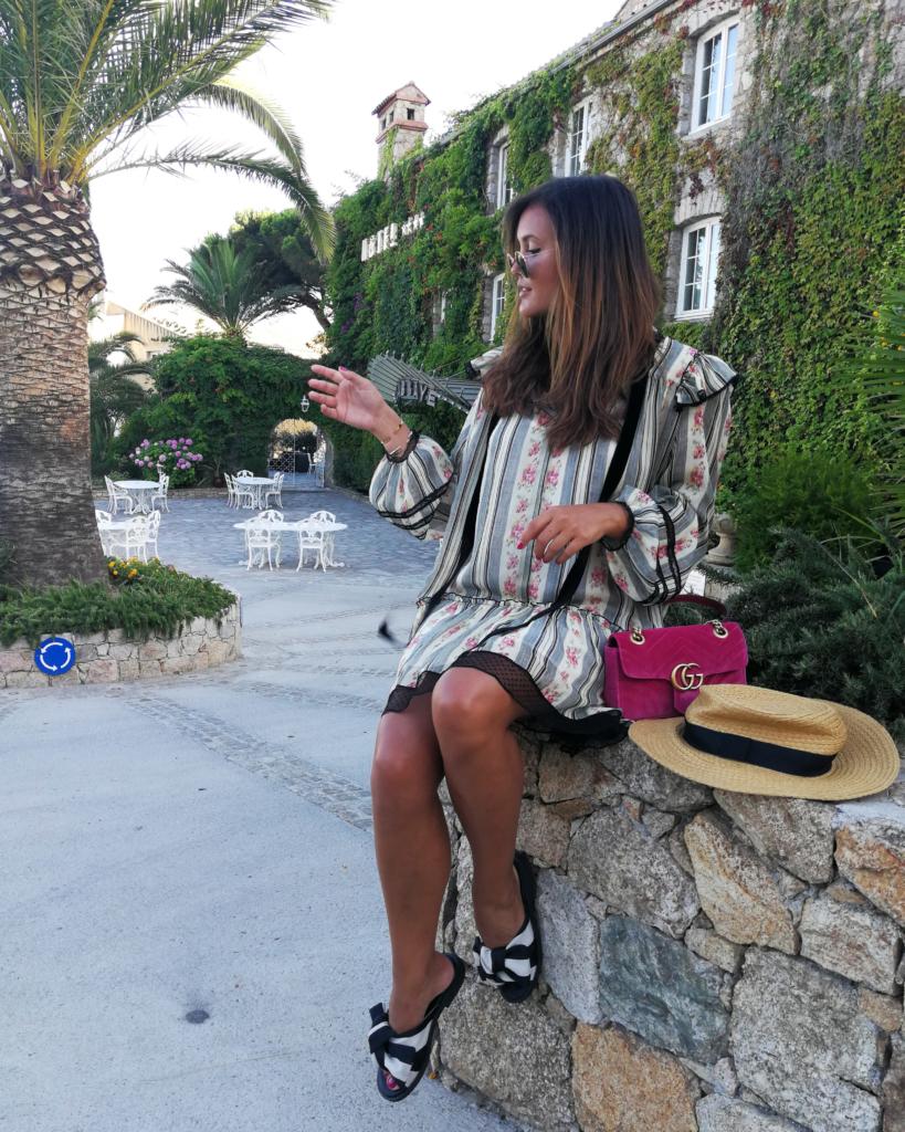 Calvi Korsika, Gucci Velvet Bag, Guccitasche pink velvet, Gucci Marmont Velvet Pink