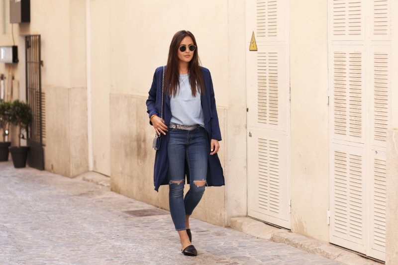 Jeans mit Babouches