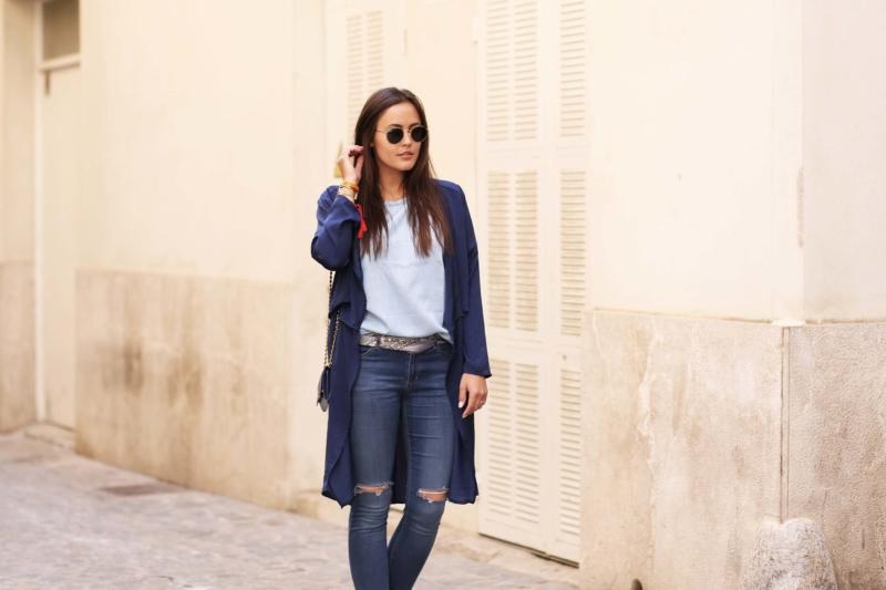 blue jeans tuch gürtel