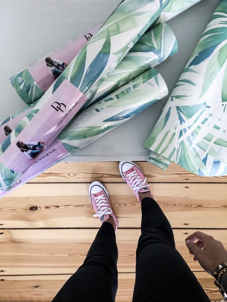 Tapeten-Kollektion Tapetenrollen, rosa Converse