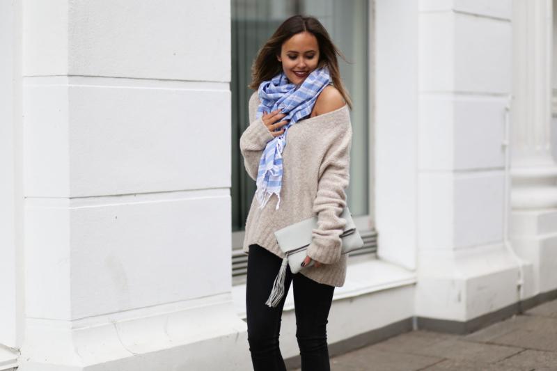 schulterfreier oversize pullover