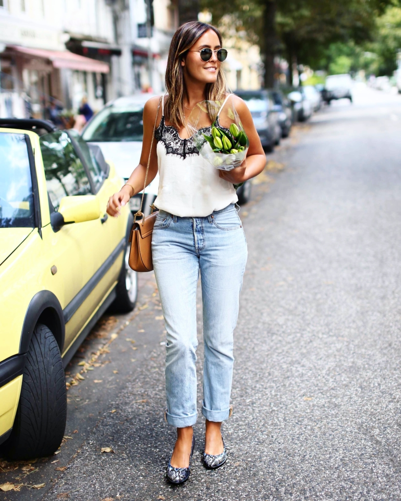 Herbst Look, Herbst Must Haves, Jeans, Blue Jeans, Levis, Trägershirt, Basicshirt