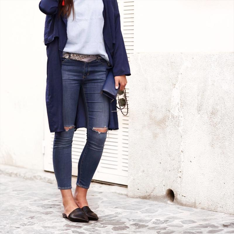 blaue jeans von topshop