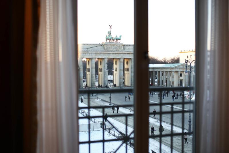 Ausblick aus dem Hotelfenster