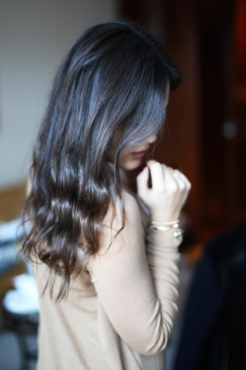 leichte Wellen in den Haaren