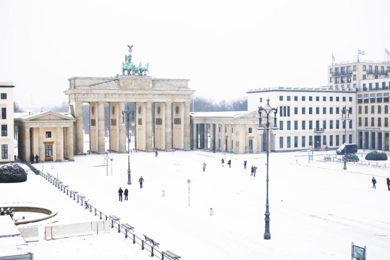 verschneites Berlin