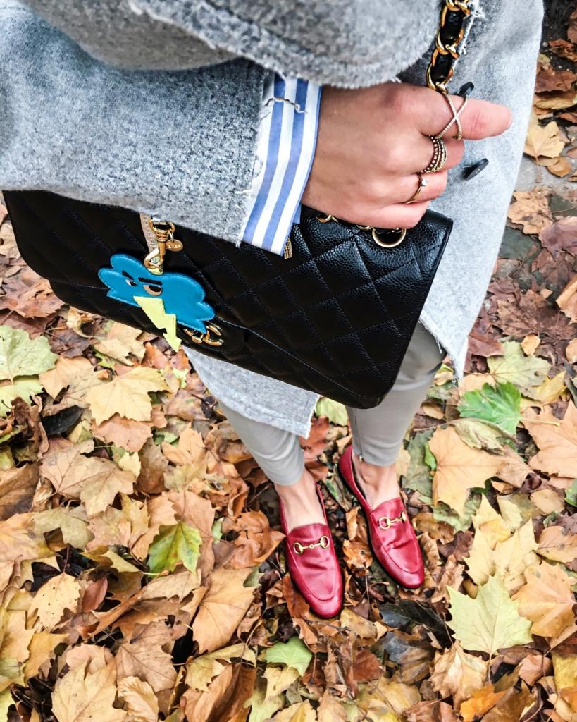 Herbstlaub, Tasche