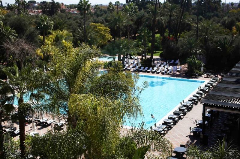 Außenanlage Hotel la Mamounia Marrakech