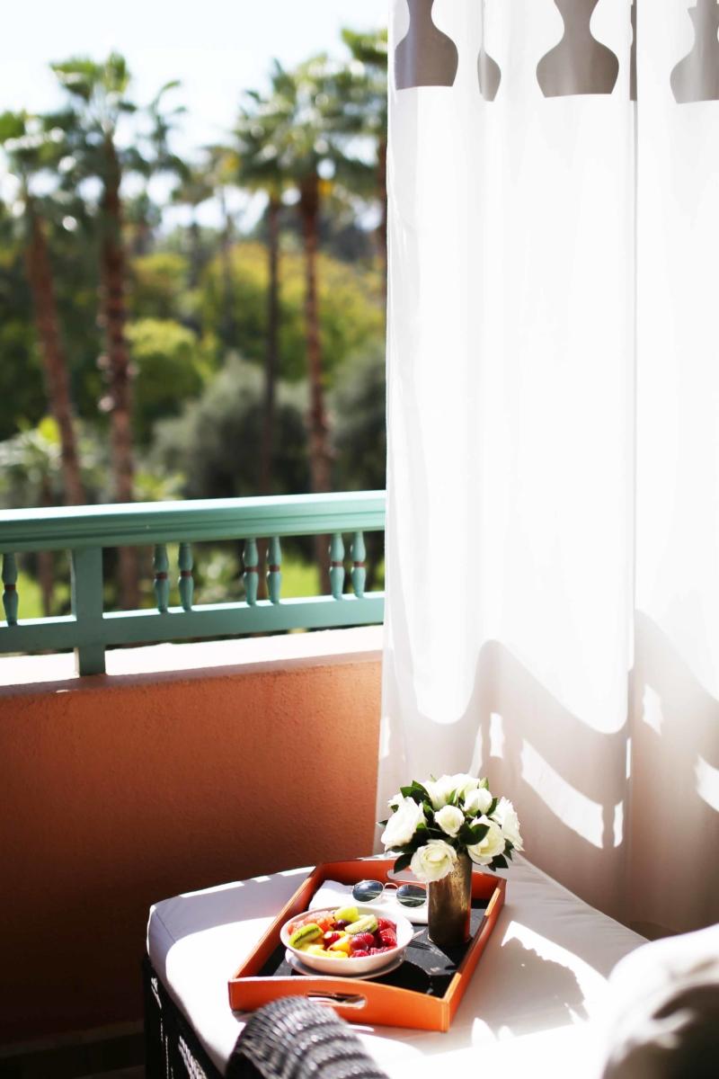 Balkon Aussicht Hotel la Mamounia