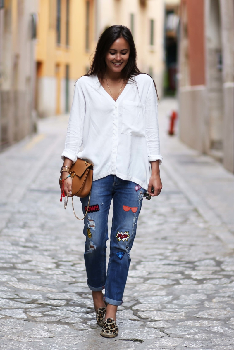 mallorca jeans mit patches