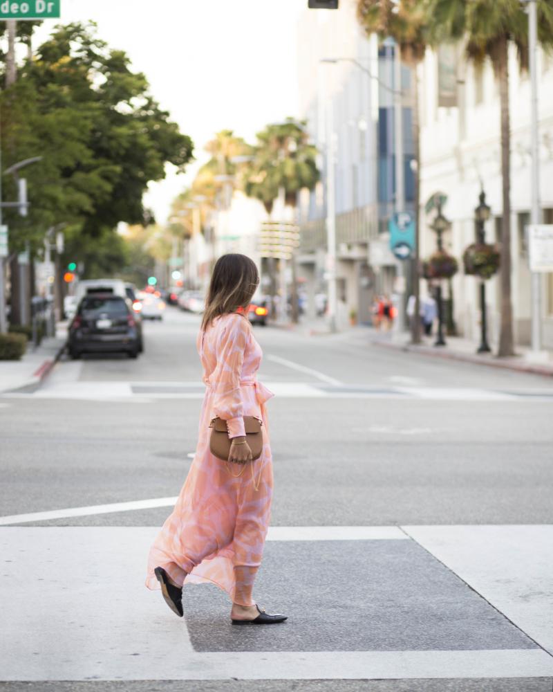 pfirsich pink kleid