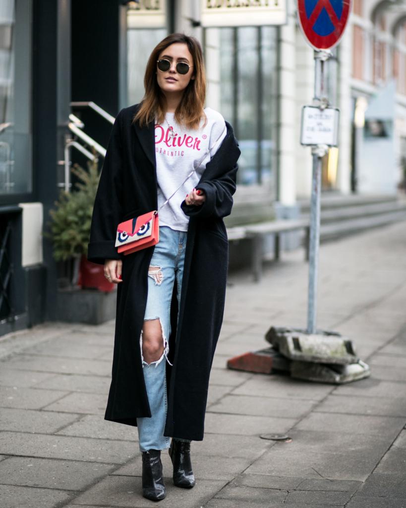 Wunderschön Stiefeletten Kombinieren Dekoration Von Zerrissene Boyfriend Jeans In Kombination Mit Spitzen